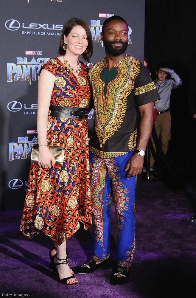 David és Jessica Oyelowo tradícionális afrikai öltözetben érkeztek a Disney és a Marvel közös produkciójának bemutatójára.