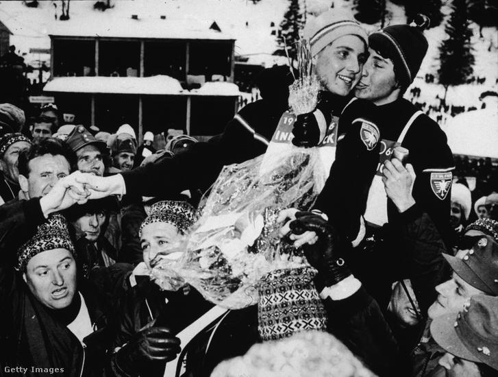 Christine és Marielle Goitschel ünnepelnek Innsbruckban