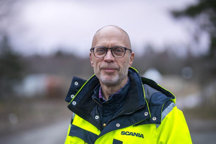 Gunnar Tornmalm, a Scania önvezetés kísérleti fejlesztésének vezetője