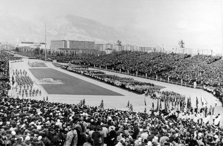 A megnyitó ünnepség Grenoble-ban