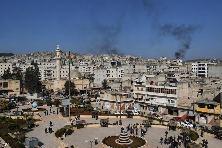 Afrin látképe 2018 január 28-án