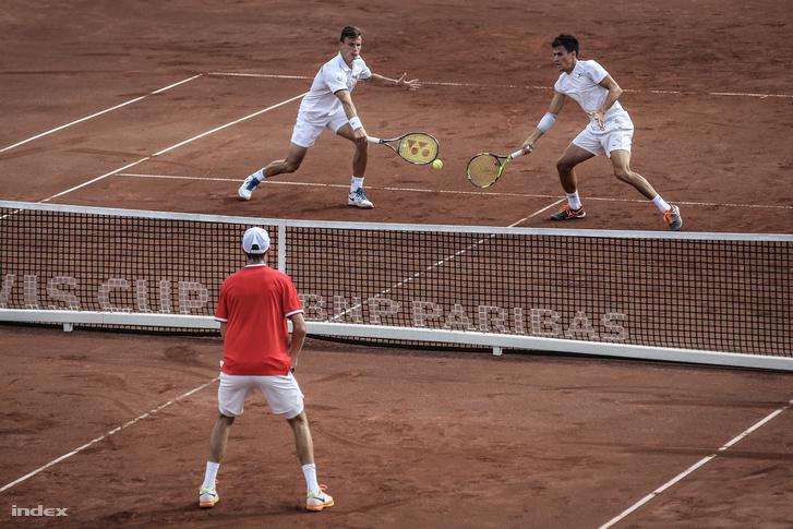 Fucsovics és Balázs a 2017-es budapesti Davis-kupán