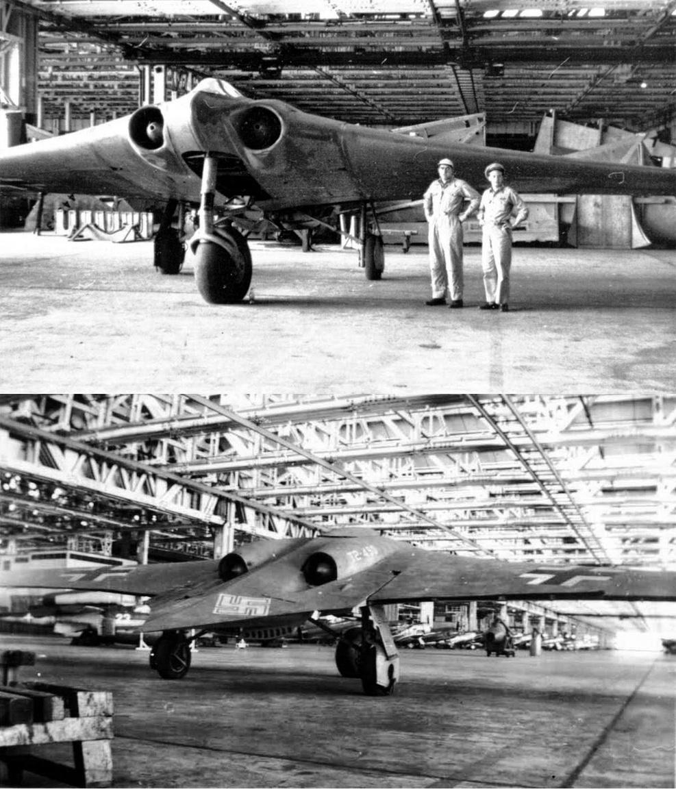 Bár tényleges lopakodó képességéről nincs alapos tudásunk, a náci csodafegyverként is emlegetett csupaszárny Horten Ho-229-t tartják sokan az első lopakodó repülőgépnek a történelemben. A II- világháború utolsó évére elkészült három gép alakját tekintve kétségkívül forradalmi volt, egy-egy példányát zsákmányul ejtő szövetségesek bőven merítettek is belőle ötletet saját későbbi fejlesztéseikhez (lásd az amerikai légierő csupaszárny bombázóit, a B-2 Spirittel bezárólag). A Smithsonian Intézet szakértői 2010-ben alaposan megvizsgálták a gép atyjának, Reimar Hortennek állításait, és azt találták, hogy sem a felhasznált anyagok és bevonatok, sem a szerkezeti kialakítás nem eredményezhetett számottevő lopakodó tulajdonságokat.