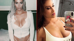 Vajna Tímea már Kim Kardashian nyakában liheg, ami a mellmutogatást illeti