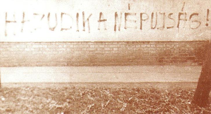 A nép hangja...falfirka a megtorlás időszakából