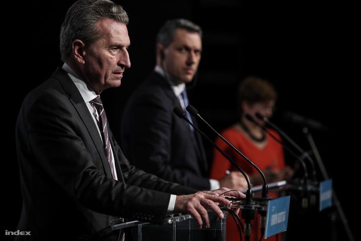 Günther Oettinger és Lázár János