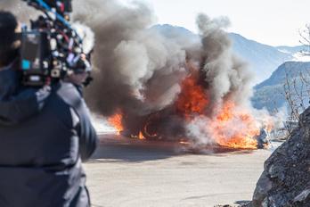 Porrá égett egy Alpine A110 a Top Gear forgatásán