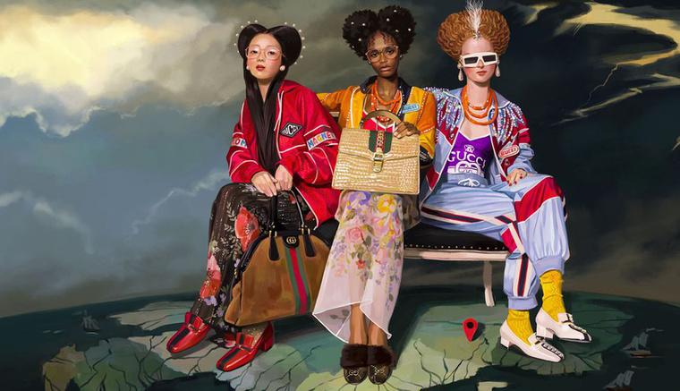 A Gucci ráunt a földönkívüliekre és a spanyol művésszel, Ignasi Monreallal készítette el új kampányát.