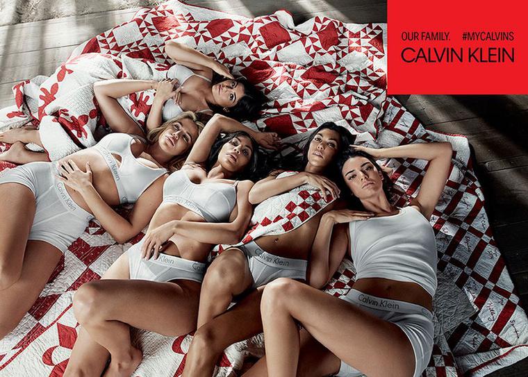 Pihennek a Kardashian-Jenner lányok a Calvin Klein kampányképein.
