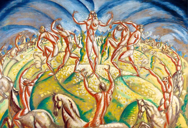 SZÁNTÓ GYÖRGY (1893 – 1961) Öröm, 1921 Olaj, vászon, 110 x 160 cm