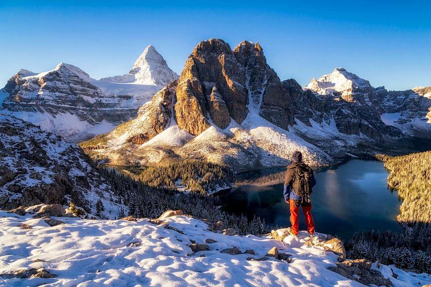 Mount Assiniboine Tartományi Park, Brit Columbia.