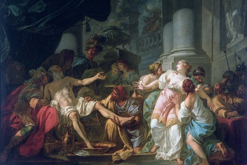 Luca Giordano, Seneca halála című műalkotása. A római filozófus az írásos emlékek szerint öngyilkos lett.