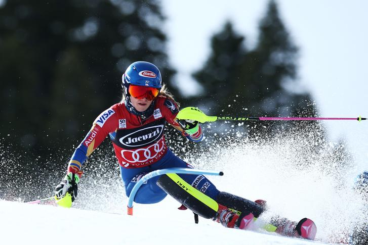 Mikaela Shiffrin az olimpiai sípályán