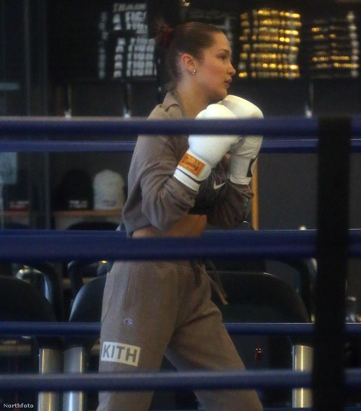 Bella Hadid csodás alakját nem a legyek hordják össze, ezért is jár boxolni, amint azt a mellékelt ábra is mutatja.