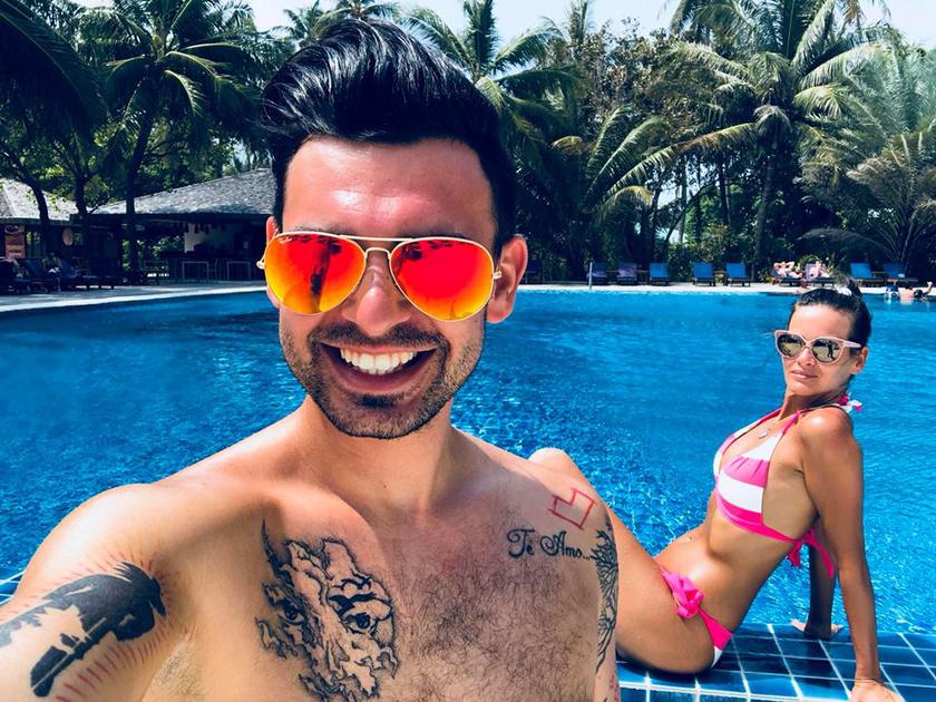 Horváth Tomi és felesége januárban tíz mesés napot töltöttek a Maldív-szigeteken.