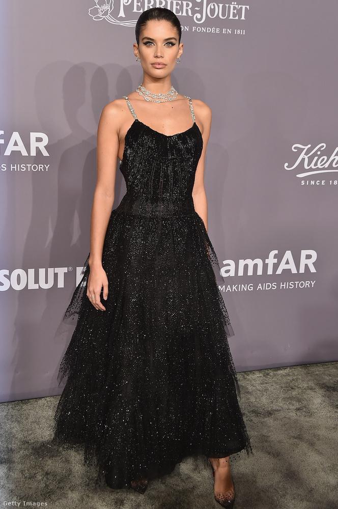 Szerettük Sara Sampaio fehérnemű modell Armani Privé tüll ruháját is.