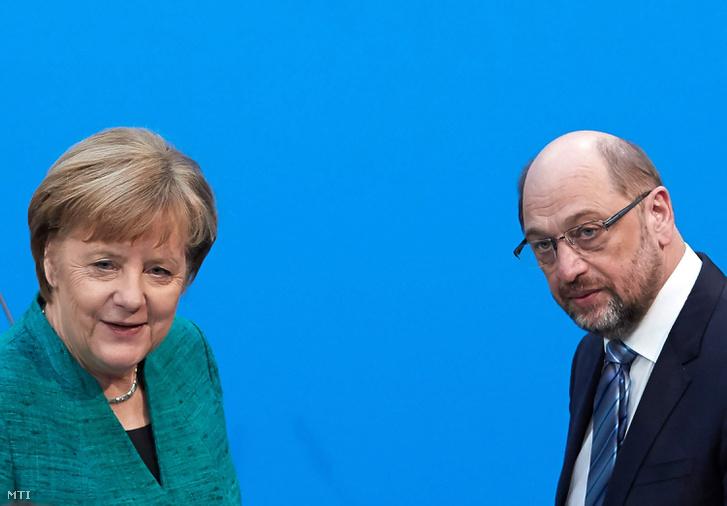 Angela Merkel és Martin Schulz