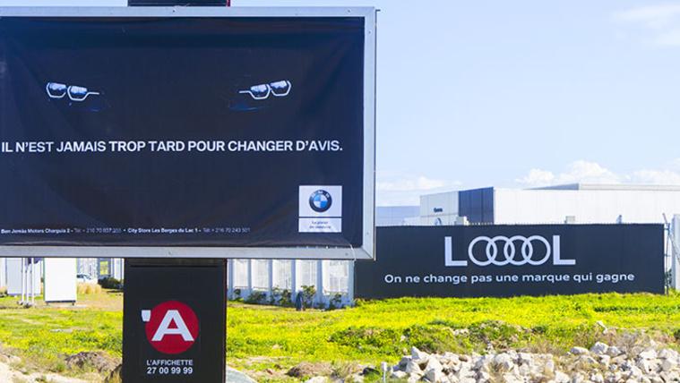 Plakátháború az Audi és a BMW között