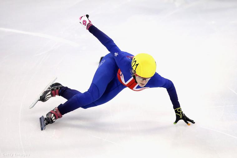 Elise Christie rövidpályás gyorskorcsolyázó, a britek nagy reménysége, övé a világcsúcs 500 méteren