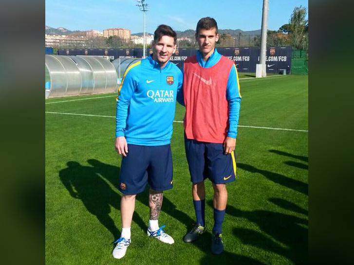 Tajti Mátyás és Lionel Messi 2015-ben