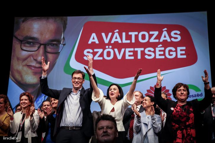 Karácsony Gergely (PM) és Kunhalmi Ágnes (MSZP) a szombati kampánynyitón