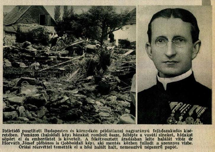 Az árvíz hősi halottja, Horváth József
