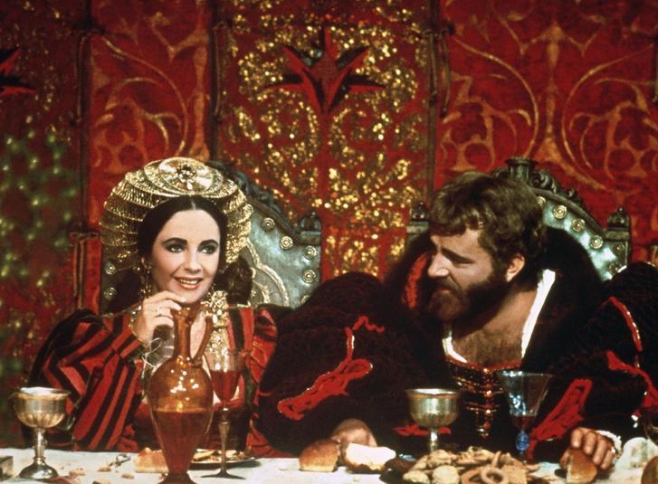 Elizaeth Taylor és Richard Burton A makrancos hölgy című filmben
