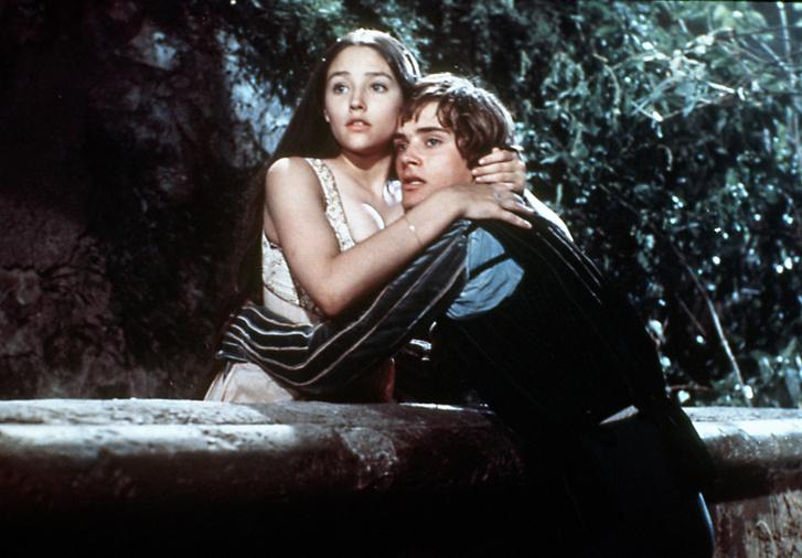 Olivia Hussey és Leonard Whiting a Rómeó és Júlia című filmben