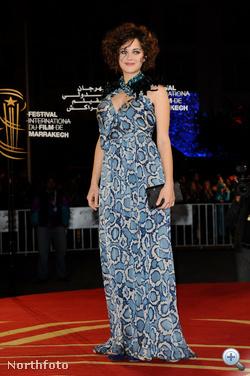 Marion Cotillard Marrakeshben egy filmfesztiválon