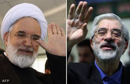 Mehdi Karubi  és Mir Hoszein Muszavi