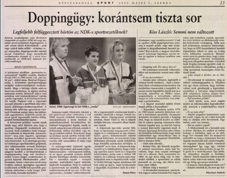 Egerszegi 1988-ban, a szöuli olimpián két NDK-s úszót legyőzve nyert aranyat