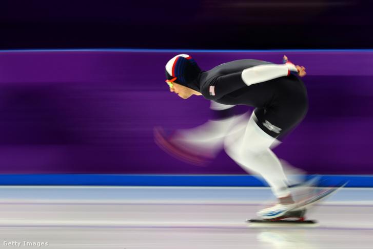 Az amerikai Emery Lehman a téli olimpián 2018 február 11-én