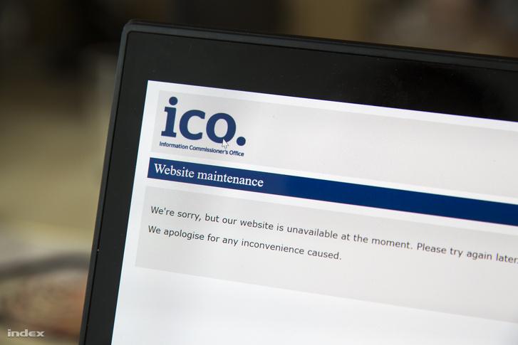 A kiírás szerint a brit adatvédelmi hivatal weboldala jelenleg karbantartás alatt áll