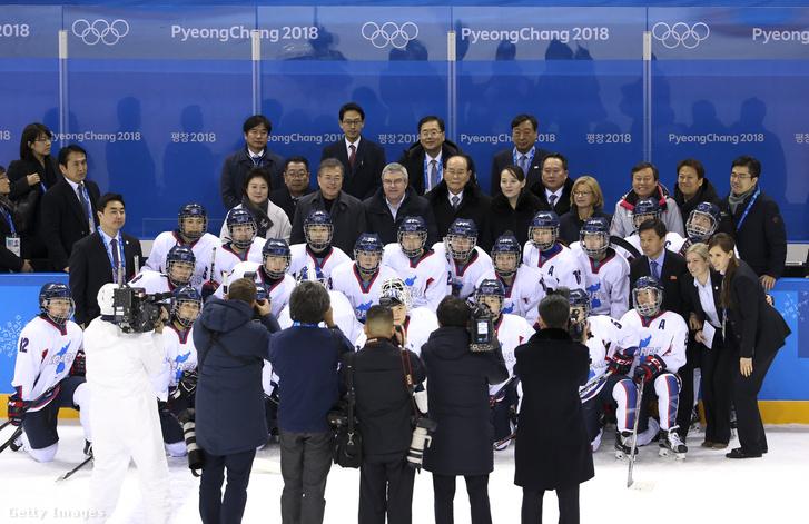 A közös koreai hokicsapat