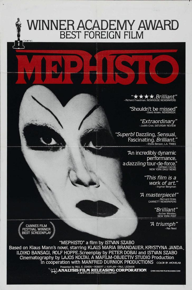 Az Oscar-díjas Mephisto amerikai plakátja