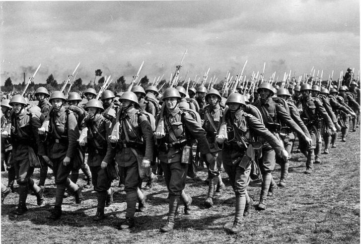 Csehszlovák katonák 1938-ban: mozgósítás volt, de a háború végül elmaradt.