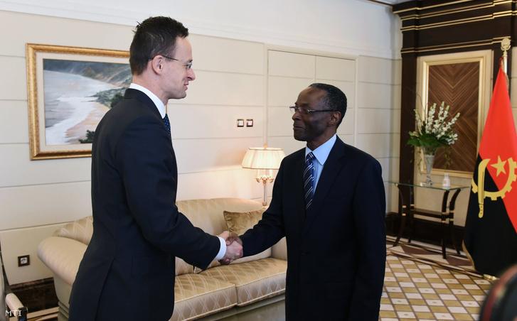 Szijjártó és Bornito de Sousa Baltazar Diogo angolai alelnök találkozója Luandában február 14-én