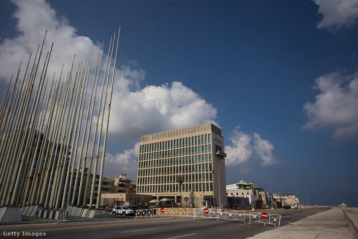 Az amerikai nagykövetség épülete Kubában