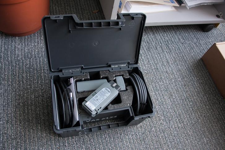 Az új Getac műszer kellékei. A Panasonic Toughbookot váltja le hamarosan