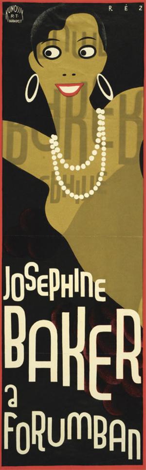 Josephin Baker plakát Réz-Diamant Tibortól