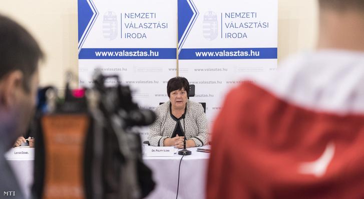 Pálffy Ilona, a Nemzeti Választási Iroda (NVI) elnöke sajtótájékoztatót tart az április 8-ai országgyûlési választásról