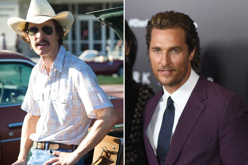 Matthew McConaughey a Mielőtt meghaltam című film miatt 60 kilóra fogyott le: csak tojásfehérjét, diétás kólás és egy szelet csirkehúst fogyasztott egy nap.