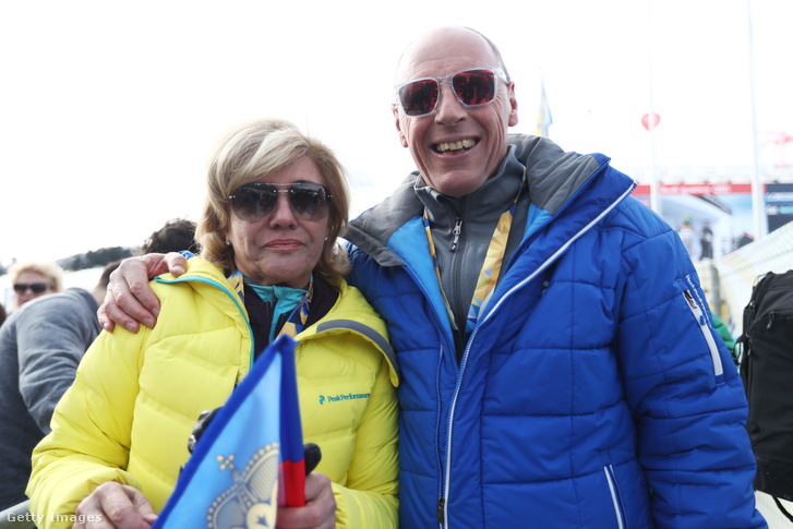 Hanni Wenzel és Harti Weirather a St. Moritz-i világbajnokságon