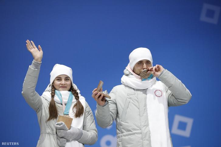 Kruselnyickij-Brizgalova curling vegyespáros a bronzéremmel
