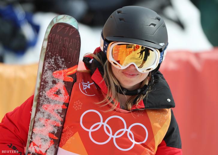 Swaney Elizabeth a futamát követően a téli olimpián