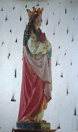 Tréphine szobra egy Pontivy-i kápolnában, Bretagne-ban