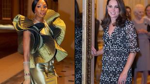 Katalin hercegné és Naomi Campbell mintha két külön eseményen lett volna