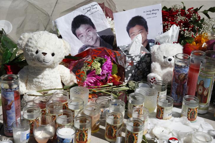 Wang fotói a lövöldözés helyszínén