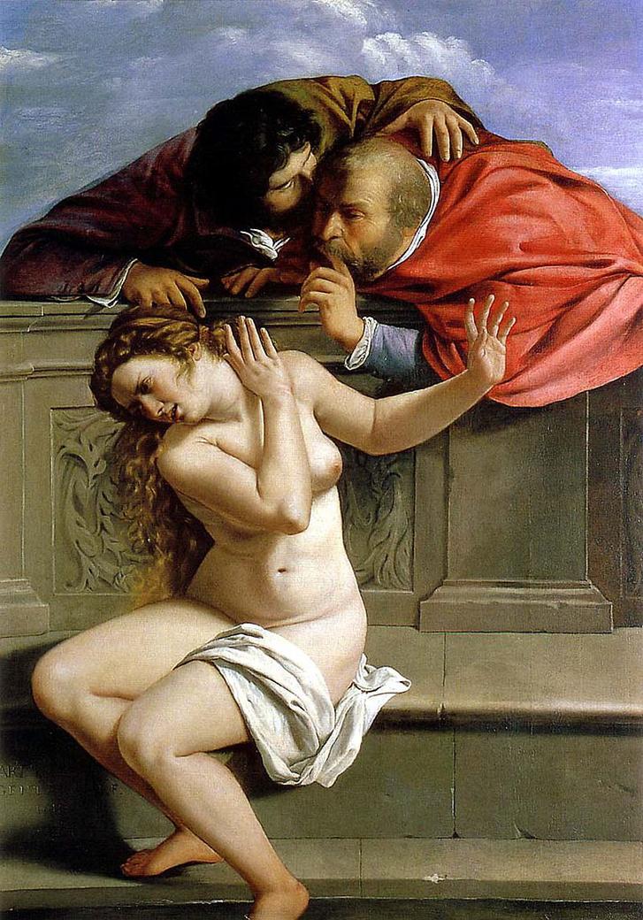 Artemisia Gentileschi: Zsuzsanna és a vének (1610)