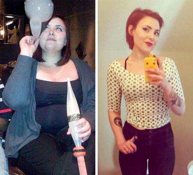 Alig három év alatt alakult át ennyire ez a nő. Nemcsak rengeteget fogyott, de a haján és az öltözködési stílusán is változtatott. Elmondása szerint nem is lehetne boldogabb.